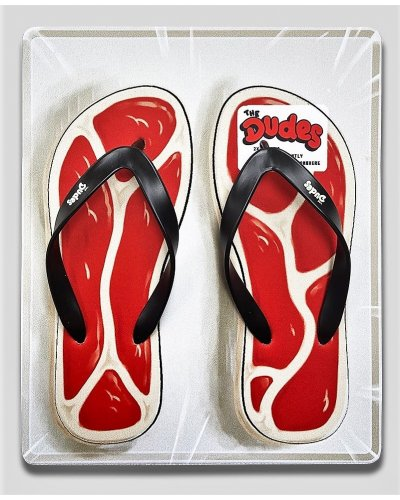 THE DUDES STEAKS SANDALS OFF WHITE