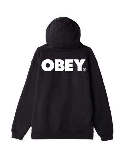 OBEY BOLD BOX FIT ZIP HOOD