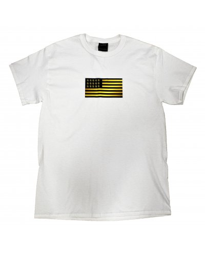 AMERICAN COOKIES APPAREL FLAG TEE WHT