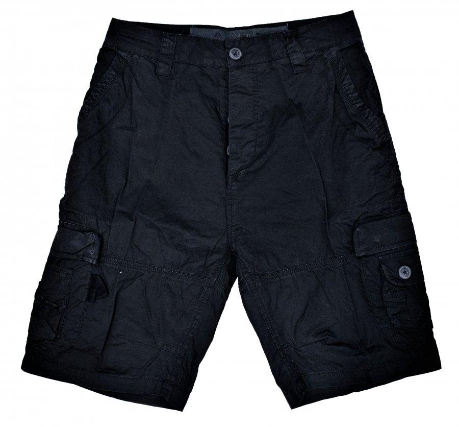 BRANDIT CARGO SHORT BLACK