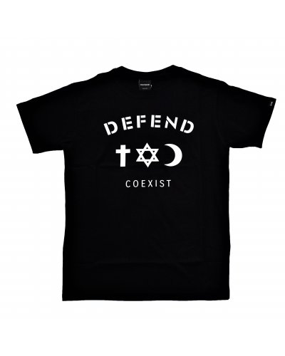 DEFEND PARIS CO EXIST TEE BLACK