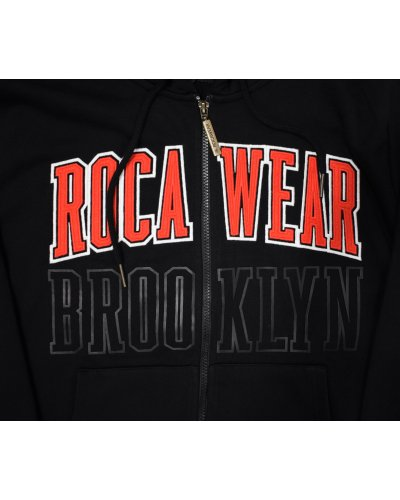 ROCAWEAR BROOKLYN ZIP HOODIE BLACK