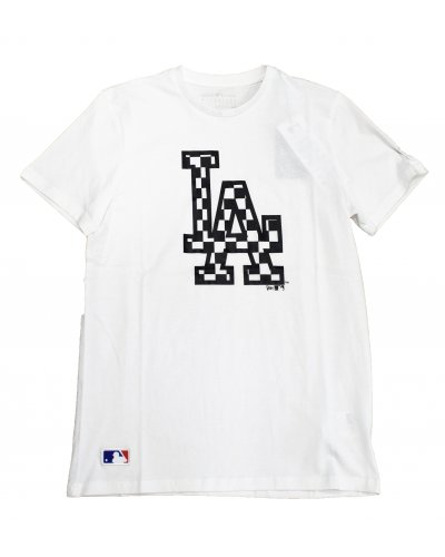 NEW ERA LOS ANGELES DODGERS LOGO INFILL WHITE T-SHIRT