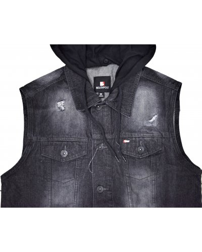 SOUTHPOLE CLOTHING Hoodied Denim Vest