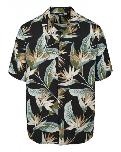 URBAN CLASSICS Blossoms Resort Shirt