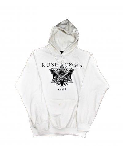 KUSH COMA OWL HOODIE WHITE
